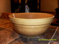 bol rustique antique yelloware country mixing bowl #2065 Rawdon
