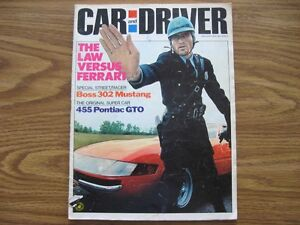 CAR AND DRIVER MAGAZINES, JANUARY 1970, JUNE 1970