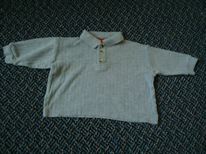 Baby Size 6 Months Long Sleeve Polo Style T-Shirt