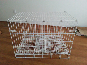 collapsible pet cage w/carry handle - $10