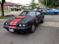 1985 MUSTANG COBRA GT WITH T-TOPS.$3500 O.B.O MUST GO BEST OFFER