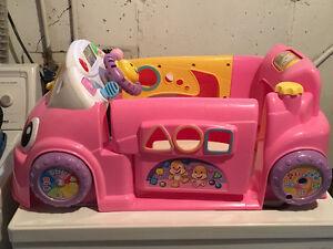 Girls fisher price car