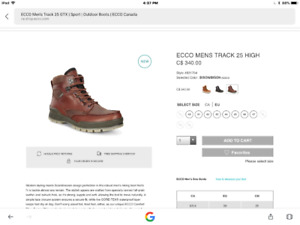 Brand new men's Ecco boots