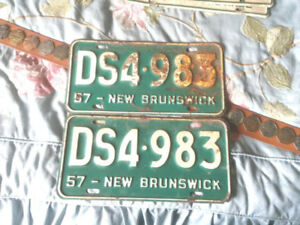 SELECTION OF NEW BRUNSWICK AUTO LICENCE PLATES $10 EACH