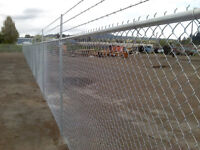 chain link fence instal Job