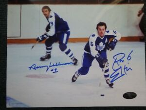 NORM ULLMAN & RON ELLIS Toronto Maple Leafs Signed 10 X 8 Photo