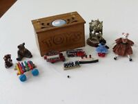 Dolls house Miniatures 1/12th scale toys with toy box