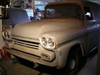 1958 CHEV APACHE PANEL TRUCK BARN FIND