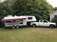 5th wheel camper ready to go