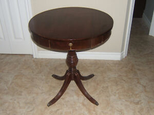 ANTIQUE CLAWED LEG PEDESTAL TABLE