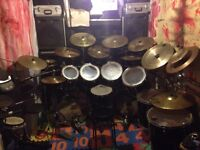 PEARL EXPORT DOUBLE BASS DRUM KIT + PDP RACK
