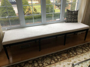 Custom 8 foot bench with nail head trim.solid wood