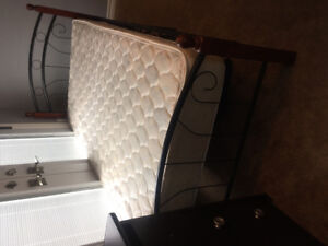 Single bed frame and matress $150