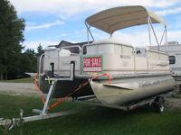 2003 Smokercraft 16' Pontoon Boat 03 Merc 40hp 4 Stroke Trailer London Ontario Preview