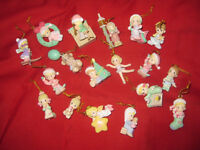 70+Large Lot Tiny Christmas Ornaments, Disney, Hallmark, Coke...