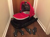 Uppababy vista twin bassinet and adaptors set for double pram
