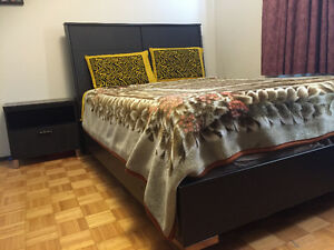 Bed set-queen bed, night stand, dresser, mirror & Chester $650