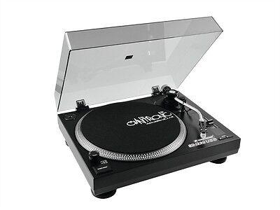 OMNITRONIC BD-1390 USB-Turntable/Plattenspieler schwarz