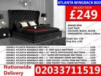 Brand New Single Double And kingsize Crushed Bed Available With Mattress