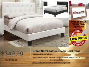◆Brand New Leather QN/DB Bed Frame W/Rhinestone on Sale@NEWD◆
