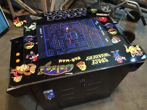 MS PACMAN 412 IN 1 DONKEY KONG GALAGA COCKTAIL ARCADE TABLE TOP
