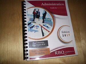 EXAMEN RBQ GUIDE FORMATION ADMINISTRATION 2017