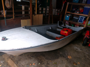 14' boat with 20hp merc