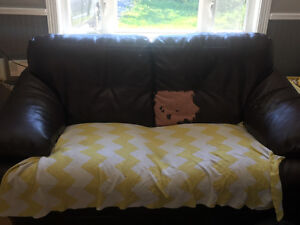 Free couches (peeling) but would be great for a cottage!