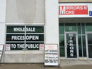 "Mirrors N'More Outlet @ 40 Snidercroft Rd.#8 opposite""Improve""."