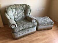FREE. Armchair and footstool