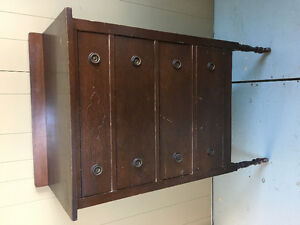 Very Old Walnut HiChest Dresser