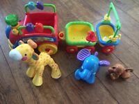 Fisher price choo choo animal train with sounds and figures