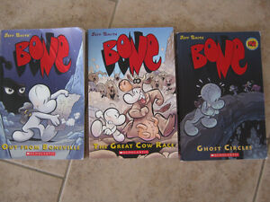 Bone Books #1,2 and 7 by author Jeff Smith