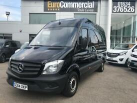 2015 Mercedes-Benz Sprinter 2.1 CDI 313 High Roof Panel Van 4dr MWB Diesel black