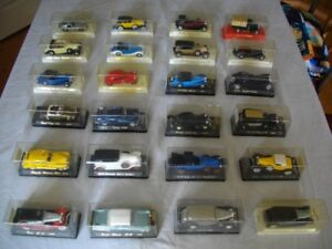 Die-cast model cars. Solidos.