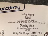 4 x Moderat tickets @ Brixton Academy Thur's 29th