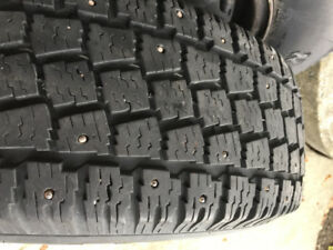 P205/75/R14 Hankook  Winter Studded Tires & Rims   Coquitlam