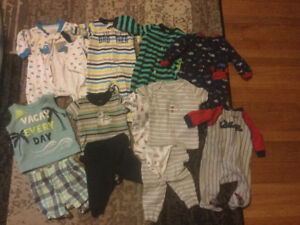 Lot of newborn baby boy clothes. All in excellent condition