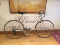 White vintage male road bike