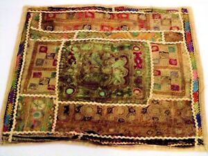 Vintage Embroidered Fabric Piece from Afghan Bridal Dress