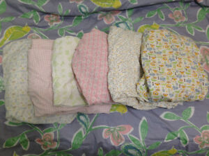 6 fitting sheets for crib mattress - great condition