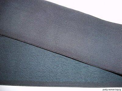 Gummiband  Bündchen Gürtel schwarzgrau 8cm breit MC9