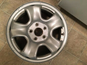 4 16 in. steel rims Good condition Obo
