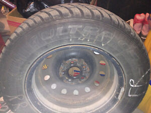 4 winter tires and rims $350 --- 205/70 R15 GoodYear Ultra Grip West Island Greater Montréal image 5