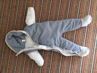 Boys 9-12 months snow suit