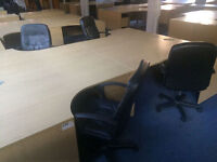 Job lot oak and beech corner desks