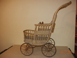 Antique Wicker Baby Carriage...price reduced London Ontario image 1
