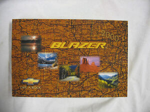 2000 Chevrolet Blazer Owners Manual - BRAND NEW BOOK - OEM