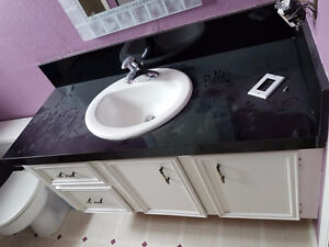 48 floating vanity with sink and faucet - excellent condition