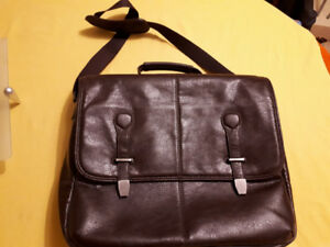 laptop messenger leather bag